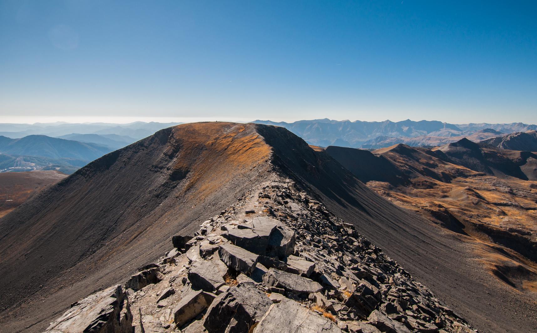 Descente du mont Mounier