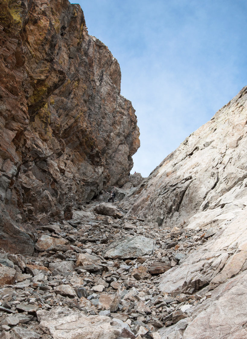 Couloir sud-est mont Clapier